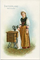 Singer Sewinig Trade Card 1892 Switzerland Soleure - Advertising