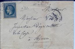 Lettre Pour Ajaccio - Marcophilie (Lettres)