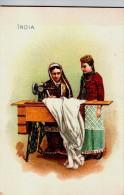 Singer Sewinig Trade Card 1892 India - Advertising
