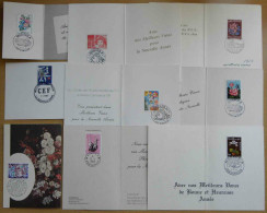 MONACO / CARTES DE VOEUX / ENTRE 1977 & 1985 -  9 CARTES DIFFERENTES / 2 IMAGES (ref 1972) - Briefmarken