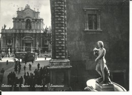 CT019 - CATANIA - F.G. VIAGGIATA 1950- IL DUOMO - TRAM - Catania