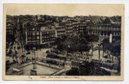 Alg�rie--ORAN--Place d'Armes et Boulevard Seguin (tramways) photoypie  Ets Photo Albert