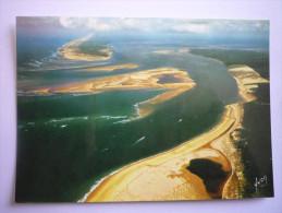 Bassin D'arcachon( 33) Entree Du Bassin à Droite Dune De Pilat-millieu Banc D'arguin-la Pointe Du Cap Ferret ( 2 Scann ) - Arcachon