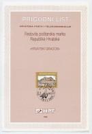 CROATIA 1992 7 D. And 20 D. Definitives On First Day Sheets (ETB).  Michel 190, 194 - Croatia