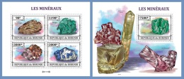 bur13301ab Burundi 2013 Mineral 2 s/s