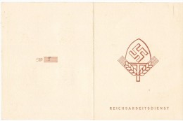 VA/11 - Deutsches Reich Reichsarbeitsdienstkarte 1943 - Non Classificati