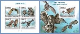 bur13311ab Burundi 2013 Bird Owl 2 s/s