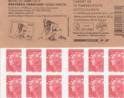 CARNET 12 TIMBRES NEUF NON PLIE MARIANNE DE BEAUJARD 590-C12 RECEVEZ LES TIMBRES DE LA POLYNESIE - Carnets