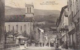 01 BELLEGARDE  Eglise Et Rue De La République - Bellegarde-sur-Valserine