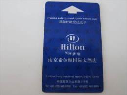 Nanjing Hiltn Hotel(corner A Little Damaged) - Hotel Keycards