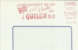 Lettre  EMA  Secap  1967 Valoriser Un Cuir Traiter QUILON Parapluie Droguerie Metiers Usines  Theme 75 Paris  A25/40 - Chemie