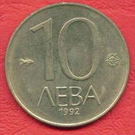 F4195 / - 10 Leva - 1992 -  Bulgaria Bulgarie Bulgarien Bulgarije - Coins Munzen Monnaies Monete - Bulgaria