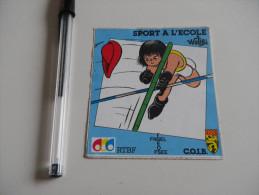 Autocollant - éducation - SPORT A L'ECOLE - FNSEL FSEOS FSEE RTBF - COIB  WALIBI - Autocollants