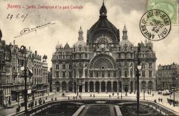BELGIQUE - ANVERS - ANTWERPEN - Jardin Zoologique Et La Gare Centrale. - Antwerpen