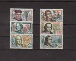 France Celebrités De 1963 N°1370 A 1375 Neuf ** Sans Charnières(cote 9€) - Neufs