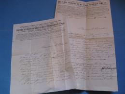 LETTRE AUTOGRAPHE SIGNEE DU GENEALOGISTE SUISSE GONCET 1862 ARISTOCRATIE FRANCE D'HOZIER DE SAINT-ALLAIS - Autógrafos