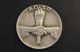 Rare Silver 925 Tennis Moyens 1957 ADISR Medal - Tenis