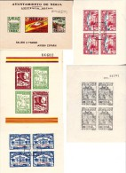 ESPAGNE - 5 BLOC FEUILLETS DE PROPAGANDE ANNEES 1936-37 -TB - Emissions Républicaines