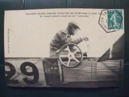 AL6-51-DEUXIEME GRANDE SEMAINE D'AVIATION DE CHAMPAGNE 5 JUILLET 1910-HUBERT LATHAM A BORD DE SON ANTOINETTE - Non Classés