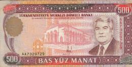 TURKMENISTAN 500 Manat 1993 P07a VF- - Turkménistan