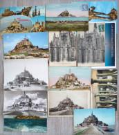 Lot 15 X Cpa Cpm  Le Mont Saint St Michel Abbaye Salle Voiture Bus Voyagé Voir Photos Pour Timbre Cachet - Le Mont Saint Michel