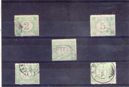 1902 - TIMBRE - TAXE(PORTOMARKEN) Mi No 25y/29y  Série Complète  Sans  Filigranes WEIBES - Portomarken
