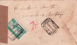 01864 Carta Certificada Con Viñeta Benefica De Vigo A Habana--Cuba - Censura 1945 - Marcas De Censura Nacional