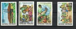 TOGO - SERIE NON DENTELLATA - ANNO 1980 Market Scenes - SCENE DI MERCATO - Blocs-feuillets