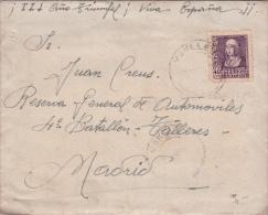 01867 Carta DeManlleu A Madrid - Censura - Marcas De Censura Nacional