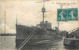 CHERBOURG : LE DESAIX DANS L'ARSENAL - NAVIRE - MILITARIA -  SOUS MARIN - CACHET -  CPA 50 - Cherbourg