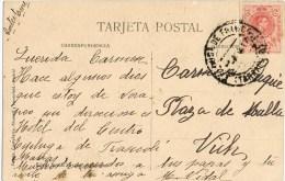 8743. Postal ESPLUGA De FRANCOLI (Tarragona) 1917 - 1889-1931 Reino: Alfonso XIII
