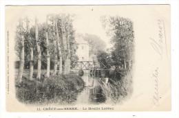 AISNE  /  CRECY-sur-SERRE  /  LE  MOULIN  LABBEZ  ( Moulin à Eau, Minoterie ) /  Edit.  F. BARNAUD  ( Cpa Précurseur ) - Other Municipalities