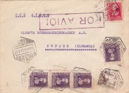 01874 Carta DeMadrid A Erfurt-Alemania - Censura Militar 1939 Madrid - Marcas De Censura Nacional
