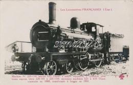 LES LOCOMOTIVES FRANCAISES ( Etat) - N° C 60 - MACHINE N° 220-114 - Eisenbahnen