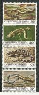 Reptiles De L´île Christmas (Océan Indien) Yvert Nr 152/55. 4 T-p Oblitérés, Première Qualité. - Reptiles & Batraciens