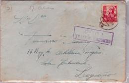 01880 Carta Lugo A Logroño  - Censura Militar 1937 - Marcas De Censura Nacional
