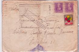 01882 Carta Barcelona Al Comandancia Principal Al Cuerpo Del  Ejercito Navarra - Censura Militar - Marcas De Censura Nacional