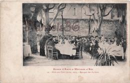 (13) Aix En Provence - Fête Des Cents Jours- 1904 - Banquet Des Anciens - Edit Bergeret - Banquet Fête De Village - Aix En Provence