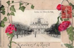 SOUVENIR DE RUEIL-MALMAISON RUEIL JARDINS DE L'HOTEL-DE-VILLE DECOR FLORAL CARTE FANTAISIE - Rueil Malmaison