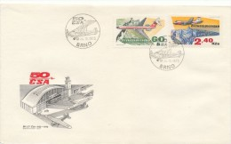 Czechoslovakia / First Day Cover (1973/19 B), Brno - Theme: Airmail Stamps (IL 62 / Bezdez, IL 14 / Pernstejn) - Castles