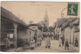 CPA (51) VILLE EN SELVE : Rue Gambetta (avec Animation) - Other Municipalities