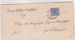 Pologne, Lettre  Pour OSTROSWO ,1888,  (p21) - Covers & Documents