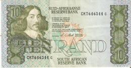 BILLETE DE SURAFRICA DE 10 RAND DE LOS AÑOS 1990-1994 (BANKNOTE) - Suráfrica