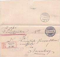 Pologne, Lettre Recommandée  De MALBORK ( MARIENBURG)  1905 (p24) - Covers & Documents