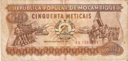 BILLETE DE MOZAMBIQUE DE 50 METICAIS DEL AÑO 1983 (BANKNOTE) - Mozambique