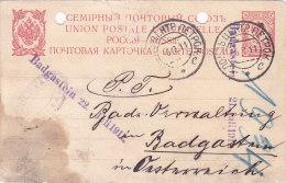 Pologne, Carte , Entier Russe  De LODZ , 1911  (p28) - Covers & Documents