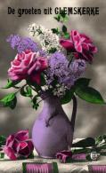 FLEURS - Roses En Pot Avec Lilas - De Groeten Uit Glemskerke. - Fleurs, Plantes & Arbres