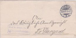 Pologne,lettre De GDANSK ( DANZIG) Franchise, 1907  (p32) - Covers & Documents