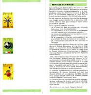 Belgique Belgium 1990 - Philatelic Folder - Special Olympics - Mondial 90 - Mundial 90 Italia Basketball Wheelchair - Copa Mundial