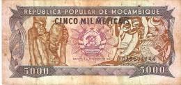 BILLETE DE MOZAMBIQUE DE 5000 METICAIS DEL AÑO 1989 (BANKNOTE) - Mozambique